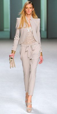 elie saab suit + sequin top