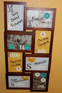 Kitchen Changeable Wall Calendar And Message Board