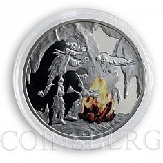 Niue 1 dollar Mankind's Crucial Achievements Fire silver proof coin 2010