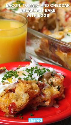 Bacon, Tomato & Cheddar Breakfast Bake with Eggs