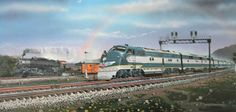 Railroad Print: The Glory and the Power by Robert West