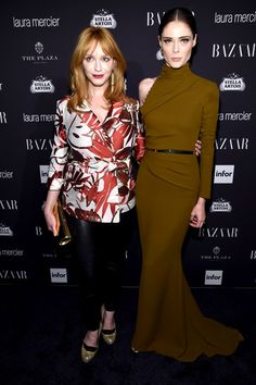 Christina Hendricks and Coco Rocha attend Harper's Bazaar's celebration of 'ICONS by Carine Roitfeld.'
