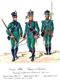 Westphalia; Chasseur Carabiner Battalion, Chasseur Carabiner 1808, Chasseur Carabiner 1808-11 & Chasseur Carabiner 1811-13 by H.Boisselier