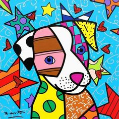 Arte Pop, Arts And Crafts Kits, Dog Paintings, Art Plastique, Dog Art, Art Lessons, Painting & Drawing, Art Projects, Art Drawings