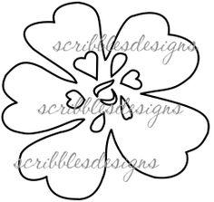 $2.00 Flower 7 Digital Stamp  (http://buyscribblesdesigns.blogspot.ca/2013/05/627-flower-7-200.html) #digital stamps, digis, scribbles designs, garden, flower