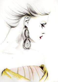 Caroline Andrieu sketch for DIOR