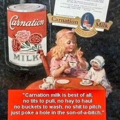 Canned Milk Ad .......... Adult .......... Hilarious! ..................