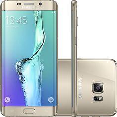 Submarino Samsung Galaxy S6 Edge Plus Dourado 32GB 4G Android Tela 5.7 - R$2454,41
