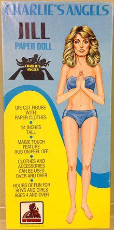 Charlie's Angels Jill (Farrah Fawcett) (1977)* The International Paper Doll Society Arielle Gabriel artist ArtrA #QuanYin5 Twitter, Linked In QuanYin5 *