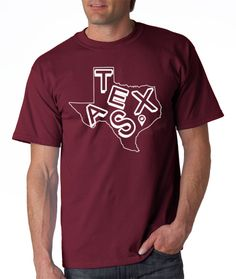 Picture this, it's the Lone Star Showdown, you're at the game, and the unthinkable happens: Johnny What's-His-Name goes down. Who's going to take his place? Will it be the guy sitting next to you? Or will it be you, standing proud, a true 12th Man rocking this maroon and white beauty? That's what we thought.  Printed on maroon or white, the College Station edition of our Texas T-Shirt is the unofficial uniform of all aggies fans, but it's required attire at the next bonfire.