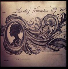 Sketch A Day - Kat Von D. Love the Filigree <3