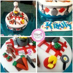 Torta chef pinksugar #pinksugar #cupcakes  #homemade  #casero  #barranquilla #pasteleria #reposteriacreativa #tortas #fondant #reposteriabarranquilla #happybirthday  #cake #baking  #galletas #cookies  #pinksugar #wedding #buttercream #vainilla #minion #oreo #passionfruit #cupcakesbarranquilla #chef