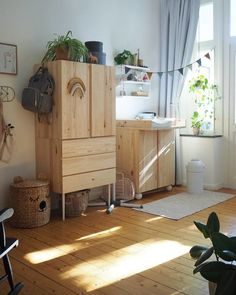 my scandinavian home: A Rental Becomes a Charming, Budget-friendly Family Home - IKEA Decoracion Habitacion Ideas, Ideas Decoracion Cumpleaños, Nursery Decor, Room Decor, Malm, Scandinavian Home, Decoration, Diy For Kids, Kids Bedroom