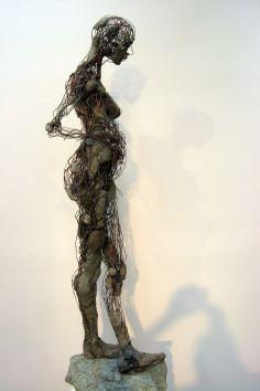 """Robert Michael Jones """"Next Generation"""" Textile Sculpture, Abstract Sculpture, Bronze Sculpture, Scrap Metal Art, Wire Art, Figurative Art, Installation Art, Female Art, Photo Art"""