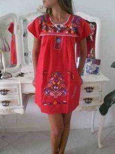 Mexican Blouse, Mexican Dresses, Bohemian Mode, Boho Chic, Boho Fashion, Girl Fashion, Fashion Outfits, Böhmisches Outfit, Mexican Fashion