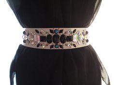 Custom Rhinestone Bridal Sash, Jeweled Bridal Sash, Rhinestone Bridesmaid Sash, Rhinestone Bridal Belt, Unique Rhinestone Bridal Sash