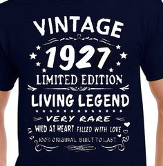 Items Similar To 90th Birthday Gift T Shirt Funny Present Age 90 Years Old For Daddy Born 1928 Vintage Grandpa Grandma