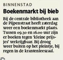 Boekenmarkt. Tubantia 02/04/2015