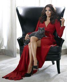 Eva Longoria and cat!