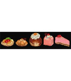Thea Gouverneur Cake Assortment On Aida Counted Cross Stitch Kit