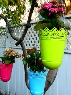 spray paint vibrant colors on ordinary objects to make them pop - these are from ikea
