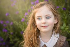 Children photography ideas. Portrait. Vintage style. Flowers.