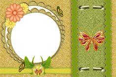 Floral Transparent Frame.