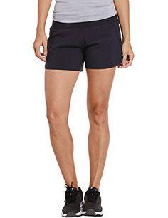 CRZ YOGA Femme Shorts de Running Pantalon de Sport Court avec Poche à Zippé  - 2.5 inch   4 inch Navy- R403-4   L(44) 44dbf363162