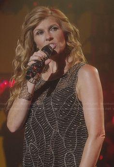 Rayna's beaded top on Nashville.  Outfit Details: http://wornontv.net/23031/ #Nashville