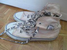 Blanc-naf-naf-femme-taille-6-baskets-plat-lilas-baseball-bottes-vintage-90S