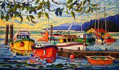 Greta Guzek - MOMENTARY CALM (30x50) Nautical Painting, Boat Painting, Original Paintings, Oil Paintings, Learn To Paint, Painting Patterns, Beach Art, Amazon Art, Pictures To Paint