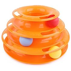 LANYOS Three layers Tower of Tracks Pet Cat Kitten Play Toy Educational Intelligence Crazy Toy ** Continue to the product at the image link. (This is an affiliate link) #CatToys