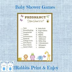 Safari Jungle Animal Baby Shower Pregnancy How sweet it is Game! Easy to assemble , Just Print and Cut!!! #safaribabyshower  #junglebabyshower #preganancygame #etsypartyshop #howsweetitis #partydigitalfiles #babyshowergames