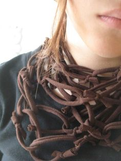 Think I'd just crochet a chain...