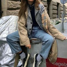 Gli Arcani Supremi (Vox clamantis in deserto - Gothian): Fall 2018 and Winter fashion trends, outfits and the New Street Style Grunge Fashion, 90s Fashion, Korean Fashion, Autumn Fashion, Fashion Outfits, Fashion Trends, Disco Fashion, Club Fashion, Grunge Outfits