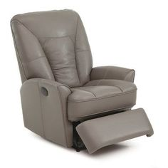 Palliser Furniture Hillsborough Rocker Recliner Upholstery: All Leather Protected - Tulsa II Jet, Leather Type: Leather PVC/Match, Type: Power