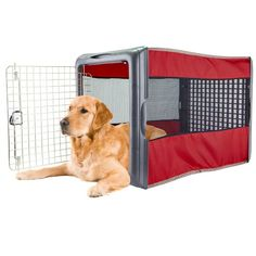 Found it at Wayfair - Large Pop Crate Dog Cages For Sale, Dog Kennels For Sale, Dog Igloo, Airline Pet Carrier, Cool Dog Houses, Dog Shower, Dog Diapers, Outdoor Dog, Big Dogs