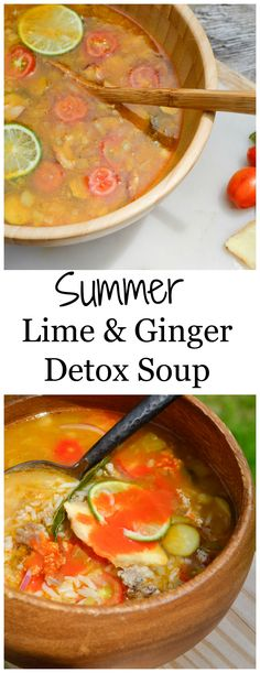 Summer Lime and Ginger Detox Soup - Try my deliciously fresh lime and spicy ginger summer, soup to help you detox and lose weight. So light and so full of flavor. You can really taste how healthy it is. Follow me for more low calorie recipes. #GoingCavewoman    http://www.goingcavewoman.com/summer-lime-ginger-detox-soup