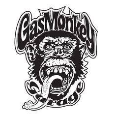 White Monkey Sticker | Gas Monkey Garage