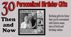 Personalized Gift Ideas For Sister Turning Happy Birthday Printable Cards With Wishes Bday Photo Collage