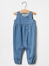 1969 dot denim one-piece