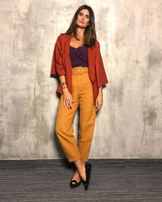 Orange Outfit Ideas Gallery yes you can wear orange and purple together and look Orange Outfit Ideas. Here is Orange Outfit Ideas Gallery for you. Orange Outfit Ideas how to . Colourful Outfits, Cool Outfits, Summer Outfits, Casual Outfits, Fashion Outfits, Girl Fashion, Womens Fashion, Color Blocking Outfits, Color Composition