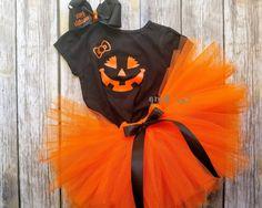 Girly Lil Pumpkin Tutu Set Costume