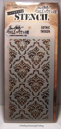New! Gothic Design Layering Stencil - Stampers Anonymous Tim Holtz Collection  #StampersAnonymous