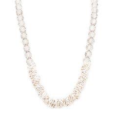 """Chunky silver beads and chain-mail combine for the edgy and evening-ready look that is the Melody necklace. Perfect for layering, or worn as a stand alone, the modern Melody puts the """"smoky"""" in smoky crystal.   Find it on Splendor Designs"""