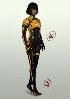 Scientist Sci Fi Clothing Uniform Artstation