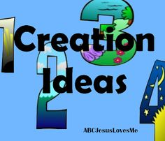 Many Creation ideas for children:  books, crafts, printables, fingerplays, songs, Bible verses, printables, story ideas....