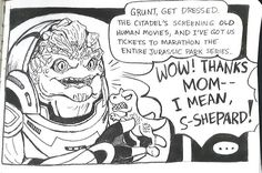 """Some people refer to Grunt as Shepard's """"tank baby"""". 
