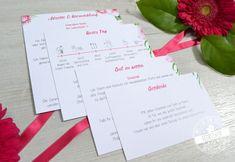 Einsteckkarten für Pocketeinladung zum Thema Strandhochzeit, Hawaii und Aloha. Beerentöne mit Pink und grün kombiniert mit Grau sind die Hauptfarben dieser Papeterie.#feenstaub #hochzeitspapeterie #sommerhochzeit #einladungskarten #pink #aloha Hawaii, Christian, Tableware, Pink, Main Colors, Invites Wedding, Good To Know, Invitation Cards, Dinnerware
