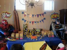 Tre's birthday was a success! Superhero Birthday Party, 3rd Birthday, The Balloon, Balloons, Success, Table Decorations, Home Decor, 3 Year Olds, Globes